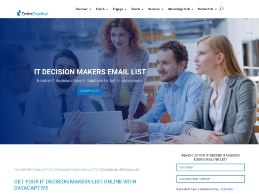 IT Decision Makers Email List  Database- USA
