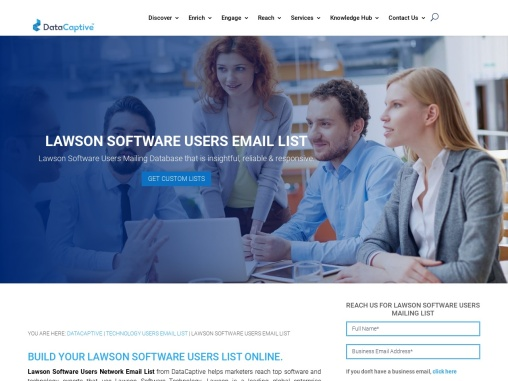 Top Lawson Software Users Mailing Prospects  USA
