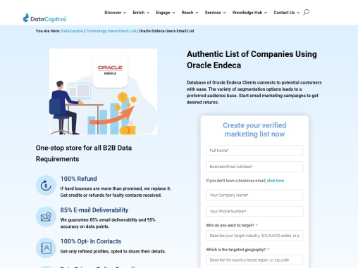 Oracle Endeca Users Email List | Oracle Endeca Customers Mailing Database