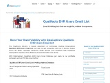 Qualifacts EHR Users Email List | Qualifacts EHR Users Mailing Database