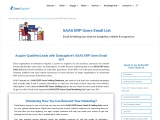 SAAS ERP Users Email List | SAAS ERP Users Mailing Address Database