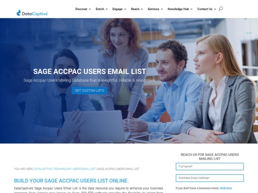 Sage Accpac Users Email List | Sage Accpac Customers Mailing Database