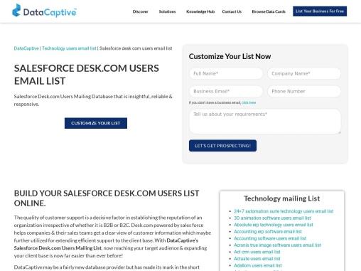 Salesforce Desk.com Users Email List | Salesforce Desk Users Database