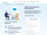 Salesforce Customer Mailing Database | Email List for Sale