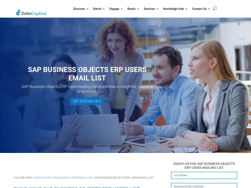 SAP Business Objects ERP Users Email List | Mailing Address Database