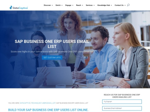 SAP Business One ERP Users Email List | Mailing Database For Sale
