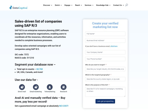 SAP R3 ERP Users Email List   SAP R3 ERP Users Mailing Database