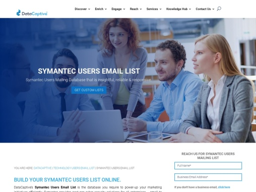 Symantec Users Email List | Symantec Customer Mailing Database