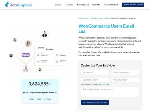 WooCommerce Users Email List | WooCommerce Customers Database