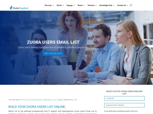 Zuora Users Email List | Zuora Users Custom Database