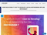 How Much Does It Cost to Develop A Social Networking App like Instagram?