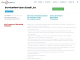 ServiceNow Users Email List | List of companies using ServiceNow