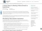 HOW TO TAKE BACKUP OF YAHOO EMAILS