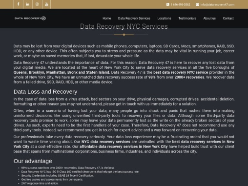 Data Recovery NYC Services New York City