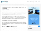 Effective Ways to Convert MBOX Data Files to PST Files