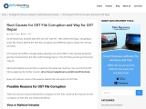 Root Causes for OST File Corruption and Way for OST Repair