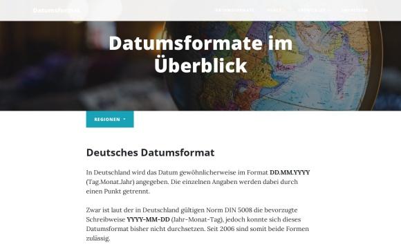 Datumsformat | Alle Formate im Überblick