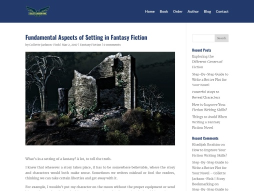Fundamental Aspects of Setting in Fantasy Fiction – Collette Jackson-Fink