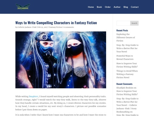 Ways to Write Compelling Characters in Fantasy Fiction – Collette Jackson-Fink