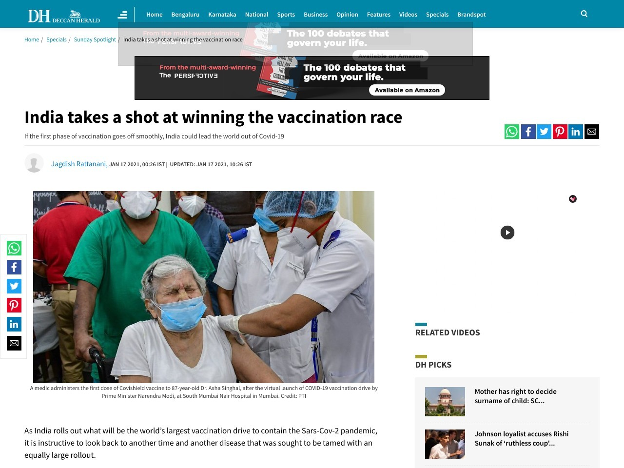 India takes a shot at winning the vaccination race
