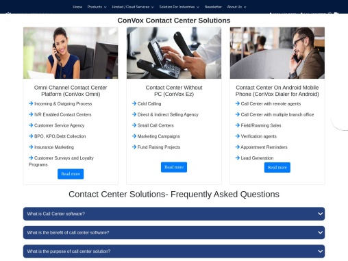 Call Center Solutions | ConVox Contact Center Solutions