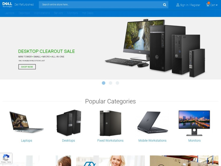 Dell Uk Refurbished Computers screenshot