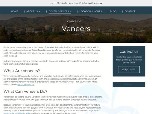 Porcelain Veneers | Kuna, ID | Deluxe Dental Group