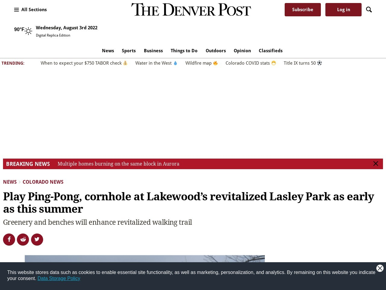 Play Ping-Pong, cornhole at Lakewood's revitalized Lasley Park as early as this summer
