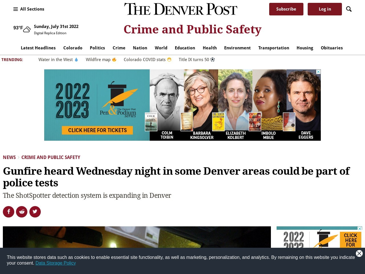 Gunfire heard Wednesday night in some Denver areas could be part of police tests
