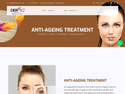 Anti-Ageing Skin Treatment for Youthful Skin | Dermiq Clinic