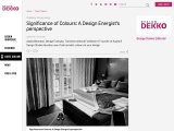 Significance of Colours: A Design Energist's perspective