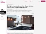 Godrej Interio transformed the kitchen area of Fashion Designer Purvdeep Mhatre