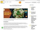 How to cook Sabudana khichdi ?