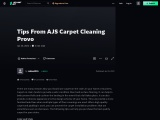 Tips From AJS Carpet Cleaning Provo
