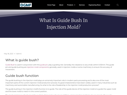 What is Guide Bush in Injection Mold?