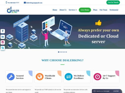 DIALERKING is an excellent professional VoIP system integrator.