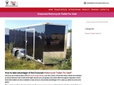 Enclosed Motorcycle Trailer For Sale