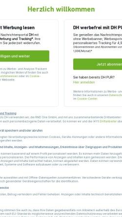 Vorschau der mobilen Webseite www.dieharke.de, Die Harke - Tageszeitung für den Kreis Nienburg