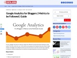 Google Analytics for Bloggers | Metrics to be Followed | Guide