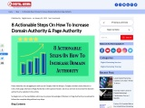 8 Actionable Steps On How To Increase Domain Authority & Page Authority