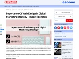 Importance Of Web Design In Digital Marketing Strategy | Impact | Benefits