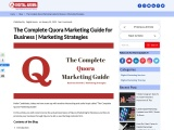The Complete Quora Marketing Guide for Business | Marketing Strategies