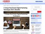 5 Unique Real Estate Digital Marketing Techniques 2021   Benefits