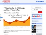 7 Things You Can Do With Google Analytics 5 | Tricks & Tips