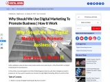 Why Should We Use Digital Marketing To Promote Business | How It Work
