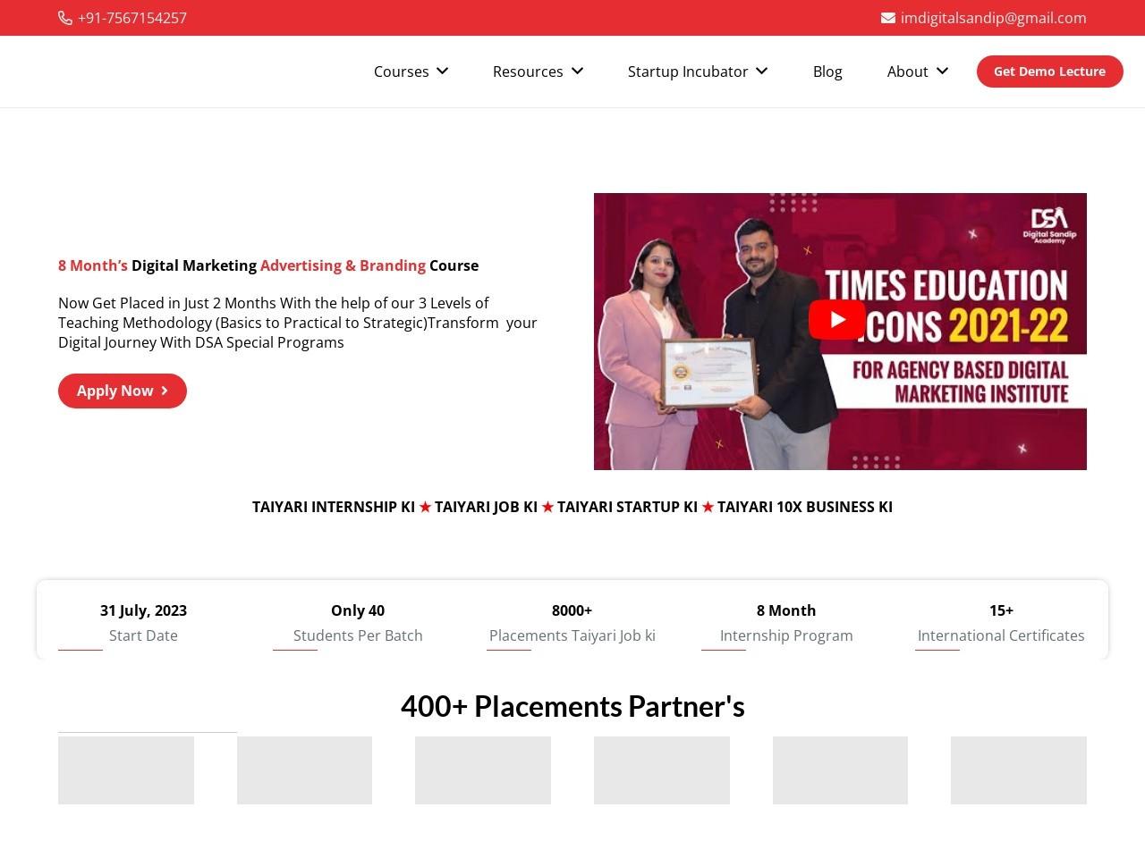 Content Marketing Course by Digital Sandip