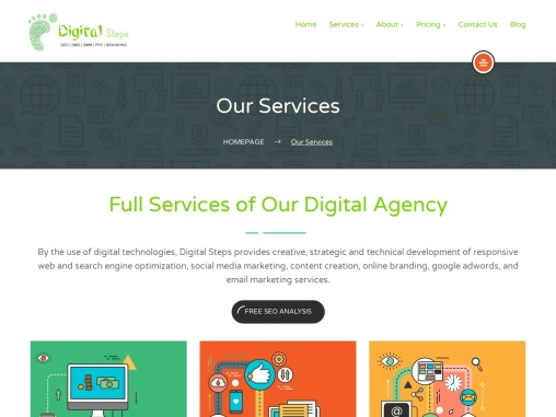 Full Services of Our Digital Agency | Digitalsteps.in