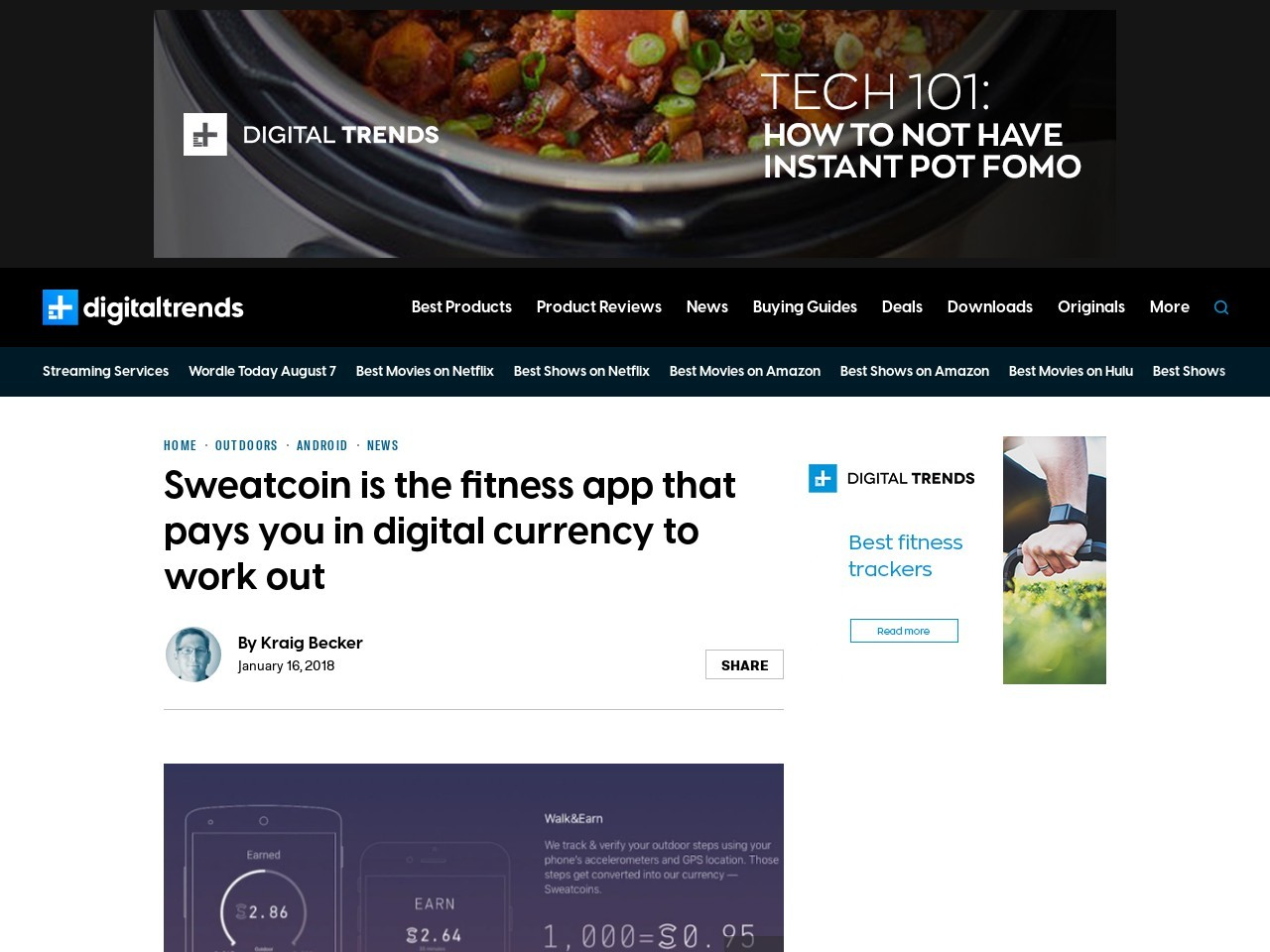 Sweatcoin is the fitness app that pays you in digital currency to…