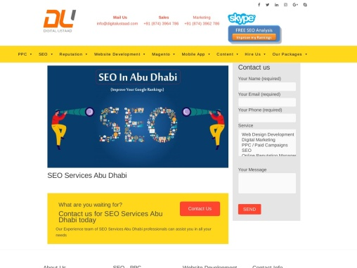 Improving Your Website Presence Through Search Engine Optimization Company in Abu Dhabi