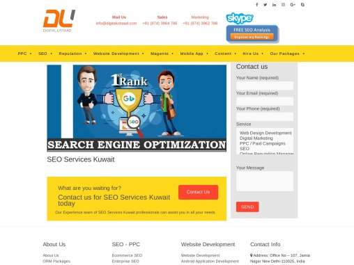 Enhance Organic traffic form your website with SEO Services in Kuwait